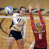 "Rosie Steinhaus of CU gets the ball past Morgan Reynolds of OU.<br /> For more photos from the game, go to  <a href=""http://www.dailycamera.com"">http://www.dailycamera.com</a>.<br />  Cliff Grassmick / September 15, 2010"