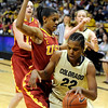 University of Colorado senior Brittany Spears drives towards the hoop during the 2011  WNIT  game against Southern California on Sunday, March 27, at the Coors Event Center on the CU campus in Boulder.<br /> The Buffs lost the game 87-70.<br />  Jeremy Papasso/ Camera