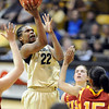 "Brittany Spears of CU  puts up a shot on USC in the second half.<br /> For more photos of the game, go to  <a href=""http://www.dailycamera.com"">http://www.dailycamera.com</a>.<br /> Cliff Grassmick / March 27, 2011"