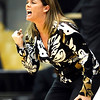 Colorado head coach Kathy McConnell-Miller yells to her players ' during their basketball game against Texas at University of Colorado in Boulder, Colorado February 10, 2010.  CAMERA/Mark Leffingwell