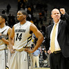 "Tad Boyle gives a fist pump to the crowd after CU defeated the University of California 89-72. For more photos go to  <a href=""http://www.dailycamera.com"">http://www.dailycamera.com</a> (Phil McMichael/ Camera)"
