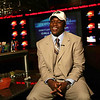 DSCOTT306.JPG (NYT84) ANAHEIM,. Calif. -- Feb. 6, 2008 -- FBC-RECRUIT -- Darrell Scott, a high school senior at the ESPN Zone Restaurant in Anaheim, Calif., where he announced his college of choice on Wednesday, Feb. 6, 2008. Scott, considered the nation's top high school running back  is viewed as a recruiting prize. At 6 feet 2 inches and 215 pounds, he has been clocked at 4.4 seconds for the 40-yard dash. He rushed for 2,443 yards and 33 touchdowns on just 275 carries this season. His decision gives University of Colorado football coach Dan Hawkins a signature recruit to continue building around. In two seasons at Colorado, Hawkins has worked to overcome scars left by past off-field scandals. (Marissa Roth/The New York Times)