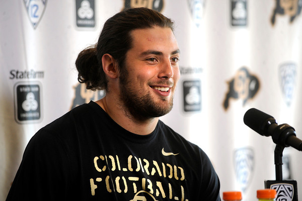 University of Colorado junior Outside Linebacker Jon Major talks about he is looking forward to the the upcoming off season under a new coaching system. Major spoke at the last regular season press conference at the Dal Ward Center on the CU Boulder Campus on Tuesday November 29, 2011.<br /> Photo by Paul Aiken