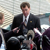"Athletic Director, Mike Bohn, talks to the media about Jon Embree.<br /> For more photos of the press conference, go to  <a href=""http://www.dailycamera.com"">http://www.dailycamera.com</a>.<br /> Cliff Grassmick / December 6, 2010"