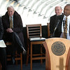 "Athletic Director, Mike Bohn, left, CU President, Bruce Benson, and Chancellor, Phil DiStephano, listen to new football coach, Jon Embree.<br /> For more photos of the press conference, go to  <a href=""http://www.dailycamera.com"">http://www.dailycamera.com</a>.<br /> Cliff Grassmick / December 6, 2010"