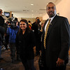 """New CU football coach, Jon Embree, walks in with his  daughter, Hannah, during the introductory press conference.<br /> For more photos of the press conference, go to  <a href=""""http://www.dailycamera.com"""">http://www.dailycamera.com</a>.<br /> Cliff Grassmick / December 6, 2010"""