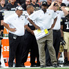 "CU vs CSU015.JPG University of Colorado Head Coach Jon Embree, center, looks at the scoreboard in the final seconds of the Rocky Mountain Showdown against Colorado State University on Saturday, Sept. 1, at Sports Authority Field at Mile High in Denver. CSU won the game 22-17. For more photos of the game go to  <a href=""http://www.dailycamera.com"">http://www.dailycamera.com</a><br /> Jeremy Papasso/ Camera"