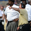 """Colorado Washington Football565.JPG Head CU coach, Jon Embree, left, and Defensive Coordinator, Greg Brown, watch the defense in the second half of the Washington game.<br /> For more photos of the CU game, go to  <a href=""""http://www.dailycamera.com"""">http://www.dailycamera.com</a><br /> Cliff Grassmick / November 17, 2012"""