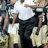 """Colorado Stanford Football334.JPG CU head coach Jon Embree talks to Yuri Wright.<br /> For more photos of the game, go to  <a href=""""http://www.dailycamera.com"""">http://www.dailycamera.com</a>.<br /> Cliff Grassmick / November3, 2012"""
