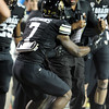 "CU USC Football325.JPG  Toney Clemons (7) celebrates with Jon Embree after a TD.<br /> For more photos of CU and USC, go to  <a href=""http://www.dailycamera.com"">http://www.dailycamera.com</a>.<br /> November 4, 2011 / Cliff Grassmick"