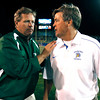 ssjm0916sjsufbc29.jpg San Jose State University Spartans head coach Mike MacIntyre, right, meets with Colorado State University Rams head coach Jim McElwain, left, after the Spartans 40-20 win at Spartan Stadium in San Jose, Calif. on Saturday, Sept. 15, 2012.  (Nhat V. Meyer/Staff)