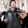 University of Colorado quarterback Shane Dillon gives an interview with the press at Folsom Field on Monday, Dec. 10, after finding out that Mike MacIntyre is to be the next head football coach.<br /> Jeremy Papasso/ Camera