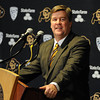 Mike MacIntyre is officially named the next football coach at the University of Colorado. He addresses the media at his introduction.<br /> Cliff Grassmick / December10, 2012