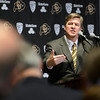 "University of Colorado head coach Mike MacIntyre speaks at a press conference in the club level of Folsom Field on Monday, Dec. 10, on the CU campus in Boulder. For more photos and video of the press conference go to  <a href=""http://www.dailycamera.com"">http://www.dailycamera.com</a><br /> Jeremy Papasso/ Camera"