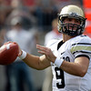 Colorado's Tyler Hansen drops back to pass against Ohio State during the first quarter of an NCAA college football game Saturday, Sept. 24, 2011, in Columbus, Ohio. (AP Photo/Jay LaPrete)