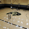 "The volleyball net is up in the lower practice gym.<br /> The University of Colorado Athletic Department held the grand opening of the new practice facilities for volleyball and basketball on Saturday.<br /> For more photos of the new facility, go to  <a href=""http://www.dailycamera.com"">http://www.dailycamera.com</a><br /> Cliff Grassmick / August 20, 2011"