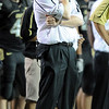 Coach Dan Hawkins looks up at the scoreboard late in the CSU game.<br /> Cliff Grassmick / September 6, 2009