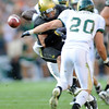This ball intended for Scotty McKnight is intercepted by CSU.<br /> Cliff Grassmick / September 6, 2009