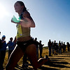 University of Colorado senior Jenny Barringer holds a dramatic lead at the Rocky Mountain Shootout Cross Country race at the University of Colorado's south campus, Saturday, Oct. 3, 2009. <br /> KASIA BROUSSALIAN / THE CAMERA