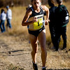 University of Colorado senior Jenny Barringer runs up Jawbone Hill on her first loop of the course at the Rocky Mountain Shootout Cross Country race at the University of Colorado's south campus, Saturday, Oct. 3, 2009. <br /> KASIA BROUSSALIAN / THE CAMERA