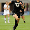 "University of Colorado's Lauren Shaner moves the ball upfield during a soccer game against Colorado College on Friday, Aug. 19, at the University of Denver. CU won the game 5-0. For more photos of the game go to  <a href=""http://www.dailycamera.com"">http://www.dailycamera.com</a><br />  Jeremy Papasso/ Camera"