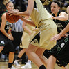 CU<br /> Julie Seabrook looks for a clean shot against North Dakota.<br /> Photo by Marty Caivano/Jan. 4, 2010