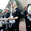 "University of Colorado Drum Line member Anna Coleman, front, plays the snare drum while Lizzie Olsen, right, plays the bass drum on Friday, Aug. 31, during the CU pep rally on Pearl Street in Boulder. For more photos and video of the pep rally go to  <a href=""http://www.dailycamera.com"">http://www.dailycamera.com</a><br /> Jeremy Papasso/ Camera"