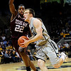 CUTEXAS<br /> CU'S Levi Knutson drives past Khris MIddleton of Texas A&M.<br /> Photo by Marty Caivano/Feb. 9, 2011