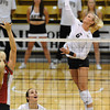 VOLLEY<br /> CU's Kerra Schroeder spikes the ball against Washington State.<br /> <br /> <br /> PHOTO BY MARTY CAIVANO<br /> Nov. 18, 2011