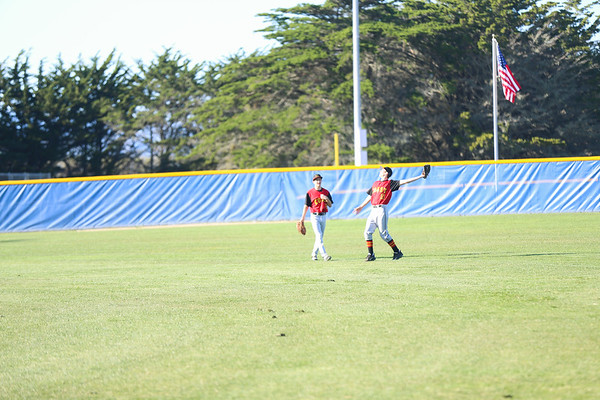 2019 CUHS Baseball - vs MB - Nate and David outfield-51