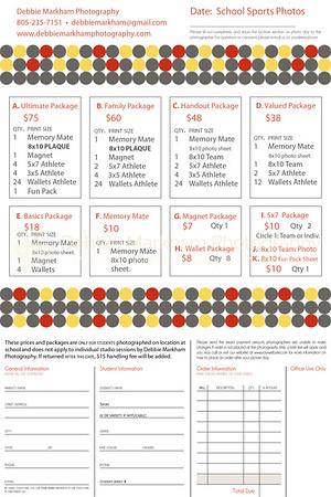 Sports Order Form 2015-2016