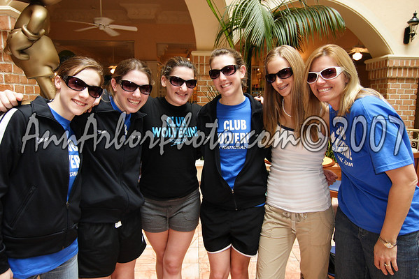 Marybeth, Carleigh, Lauren, Lauren, Lauren, and Mona --- styling in their new shades.......