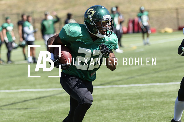 Cal Poly football practice and scrimmage