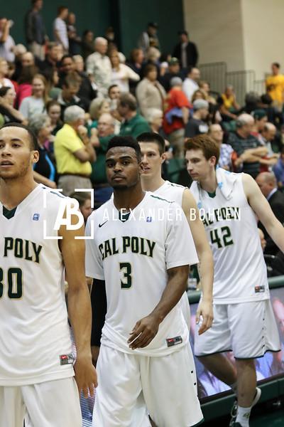 Cal Poly vs CSULB at Mott Gym, Cal Poly, February 14, 2015.