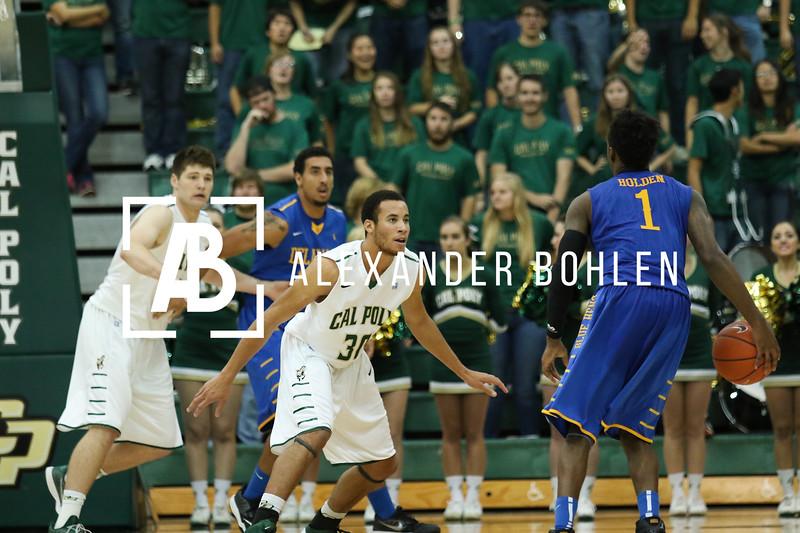 Cal Poly defeats Delaware in Men's Basketball. 78-60. Mott Gym. November 21, 2014. Photo by Alexander Bohlen.