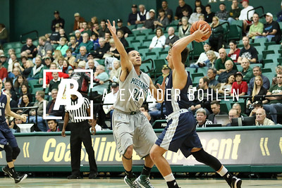 Cal Poly men's Basketball plays against Menlo. Final score is 72 -35. December 6, 2014. Photo by Alexander Bohlen