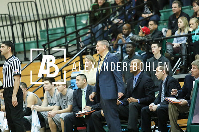 Cal Poly Men's Basketball defeats Menlo at Mott Gym by 72 to 35. December 6, 2014. Photo by Alexander Bohlen