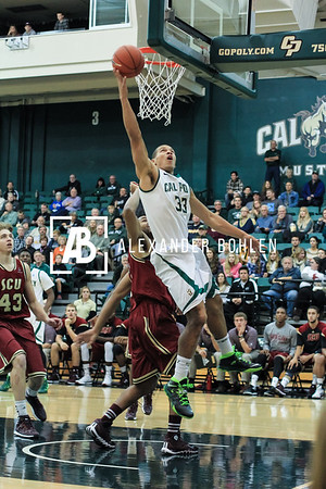 Cal Poly wins 64-53 against Santa Clara. December 7, 2013.