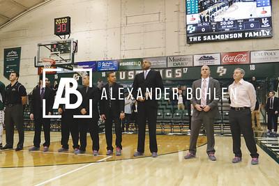 Cal Poly Men's Basketball goes against UC Riverside at Mott Gym on Jan 28, 2016. Photos by Alexander Bohlen