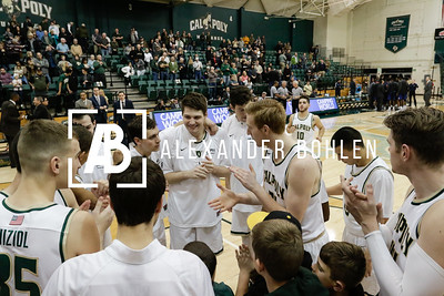 Cal Poly Basketball loses to Fullerton on Jan 13, 2017 in Mott Gym.