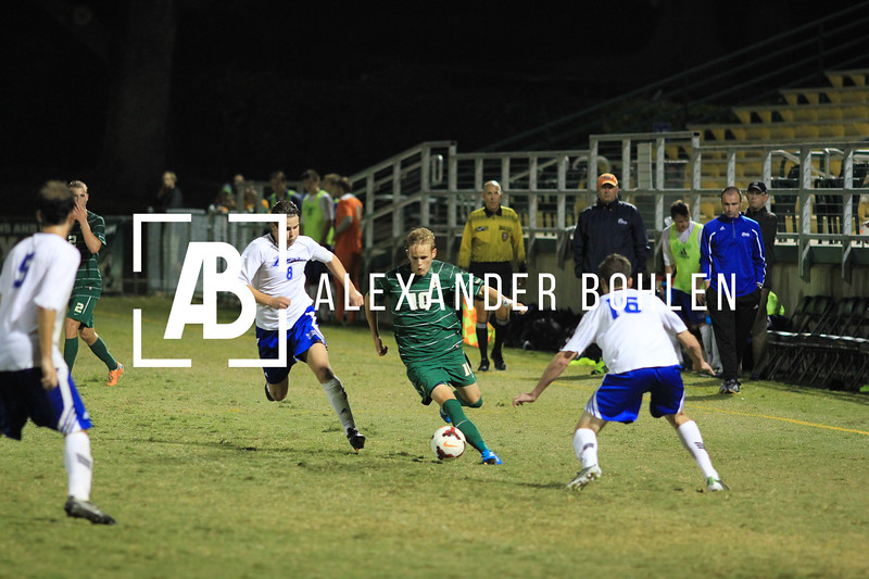 Cal Poly ties Drake in double overtime. 0 to 0. Photo by Alexander Bohlen