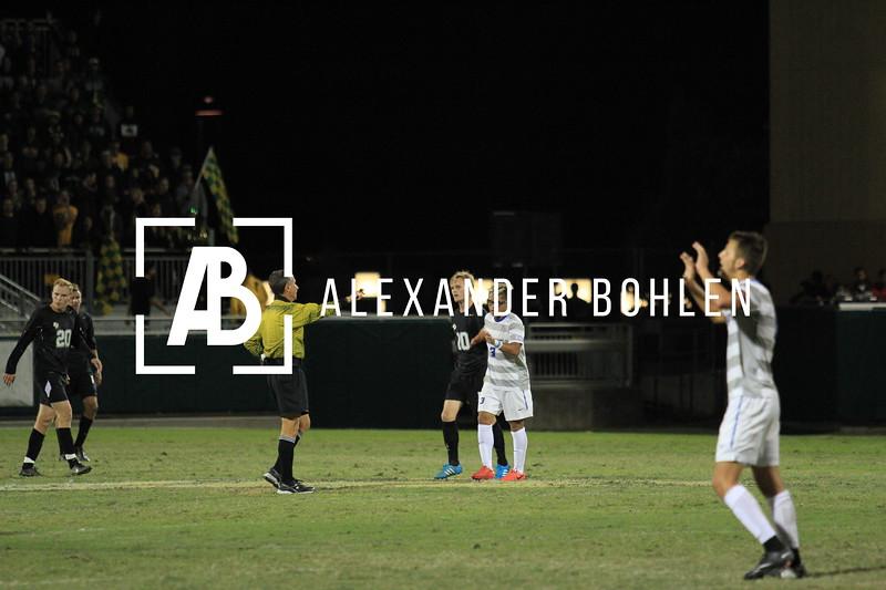 The Cal Poly Men's soccer team take on the UCSB Gauchos in Alex G. Spanos Stadium.  Nov. 2, 2014. Nov. 2, 2014. Alex Bohlen/Mustang News
