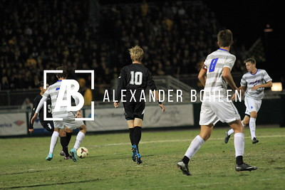 The Cal Poly Men's soccer team take on the UCSB Gauchos in Alex G. Spanos Stadium.  Nov. 2, 2014. Nov. 2, 2014. Alex Bohlen/Mustang News