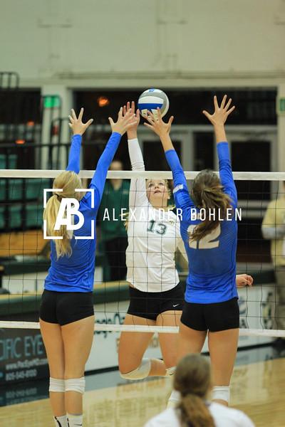 Cal Poly vs Santa Barbara. 0-3. Photo by Alexander Bohlen