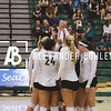 Cal Poly Women's Volleyball defeats CSUN in set 4 at Cal Poly Mott gym on October 21, 2016. Photo by Alexander Bohlen