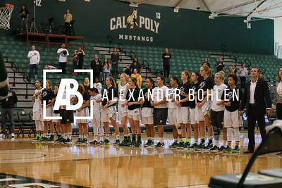 Cal Poly Women's Basketball goes against LMU in Mott Gym on December 12th, 2015. Photos by Alexander Bohlen