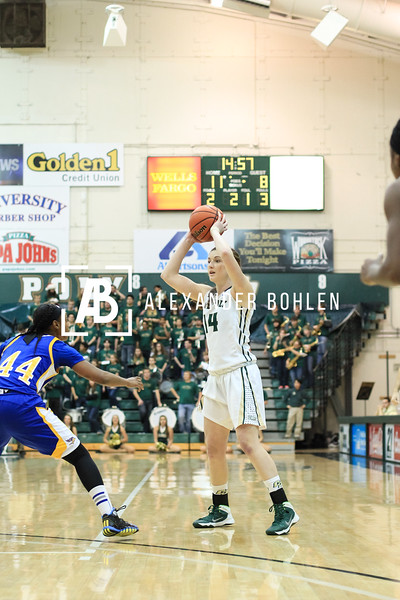 Cal Poly wins 63 to 54. December 7, 2013.