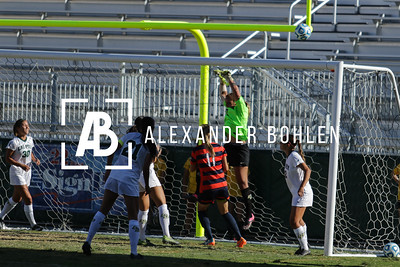 Cal Poly Women's Soccer is defeated by Fullerton 1-2 at Alex G. Spanos Stadium on Nov 1st, 2015. Photo by Alexander Bohlen.