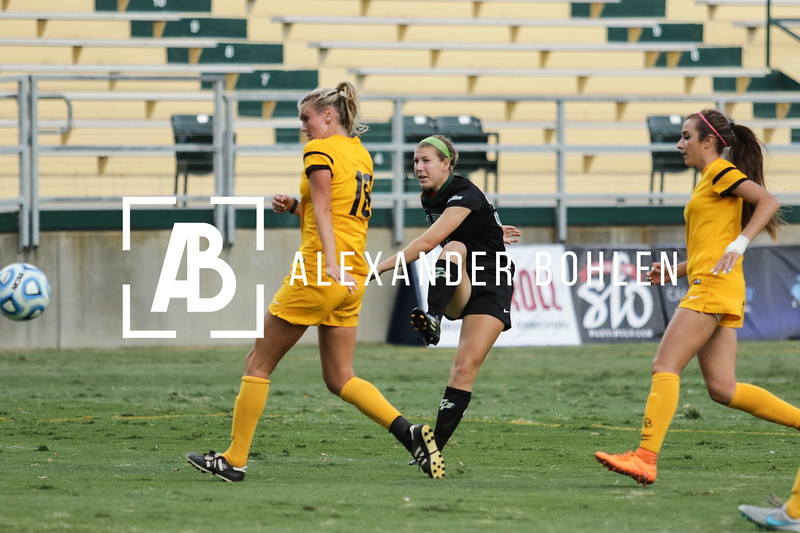 Cal Poly Women's Soccer loses to Long Beach State by 2 goals. Game at Alex G. Spanos Stadium on Oct 8, 2015. halftime, the score was 0-0.