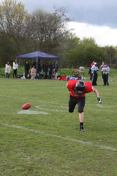 Catching practice - oops that got away.